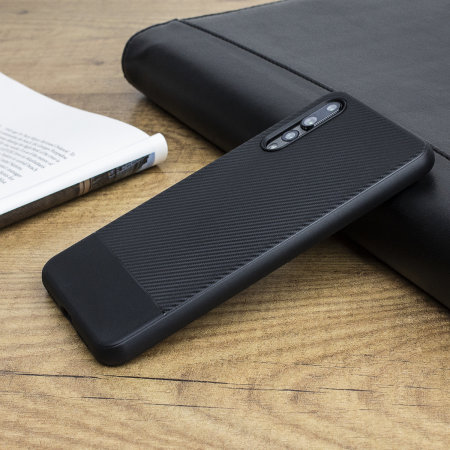 Olixar Carbon Fibre Huawei P20 Pro Case - Black