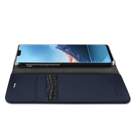VRS Design Diary Echt leer LG G7 Case - Blauw