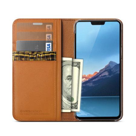 VRS Design Diary Echt leer LG G7 Case - Bruin