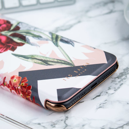 ted baker emmare iphone 8 plus mirror folio case - palace gardens