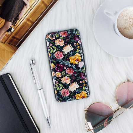lovecases floral art iphone 6 case - black