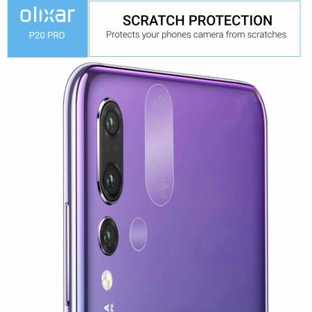 Olixar Huawei P20 Pro Tempered Glass Camera Protectors - Twin Pack