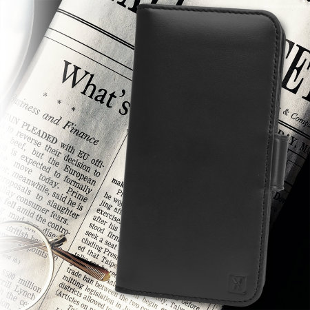 olixar genuine leather iphone 6 wallet case - black