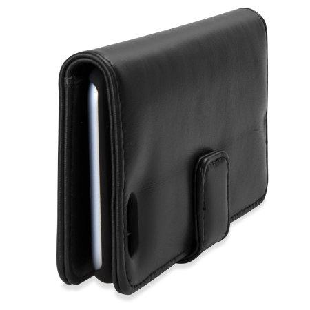 olixar genuine leather iphone 6 wallet case - black