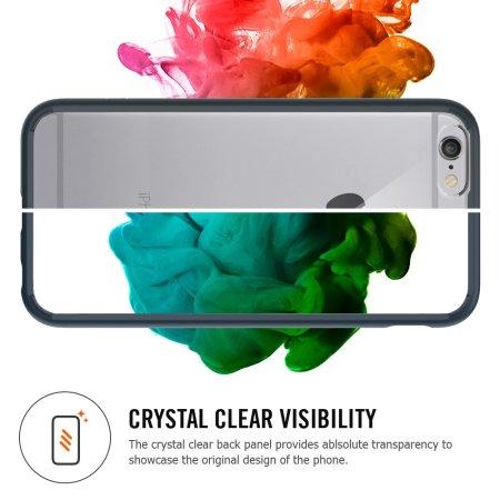 spigen ultra hybrid iphone 6 bumper case - black