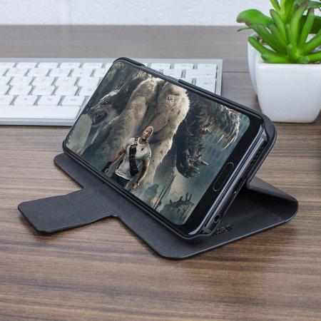 Olixar Leather-Style Huawei Honor 10 Wallet Case - Black