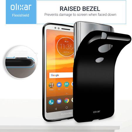 Olixar FlexiShield Motorola Moto E5 Plus Gel Case - Solid Black