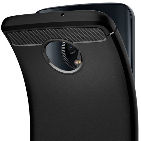 Spigen Rugged Armor Motorola Moto G6 Plus Tough Case - Zwart