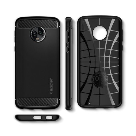 the best attitude 58769 c6c00 Spigen Rugged Armor Motorola Moto G6 Plus Tough Case - Black