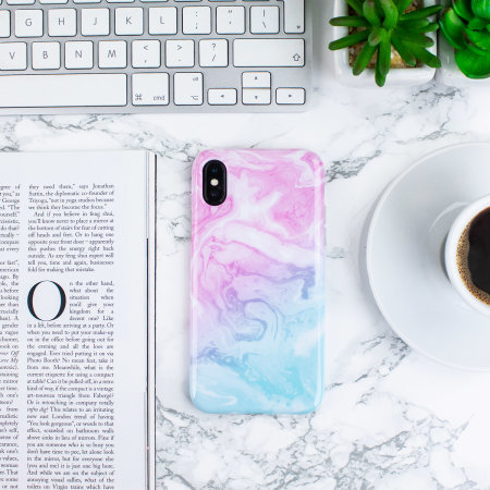 lovecases marble iphone x case - dream pink