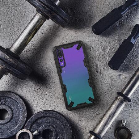 Rearth Ringke Fusion X Huawei P20 Pro etui - Sort