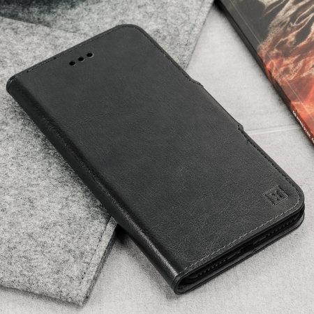 Olixar Lederen Stijl Samsung Galaxy J6 2018 Portemonnee Case - Zwart