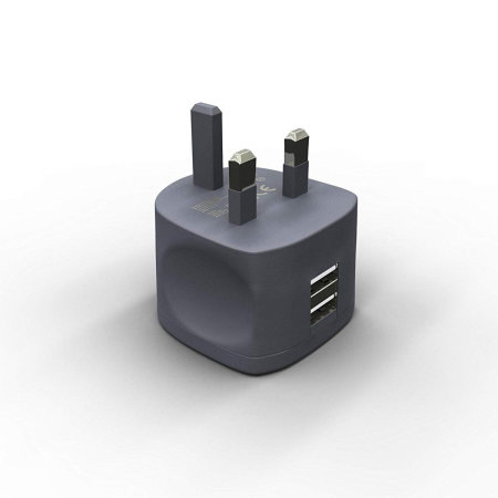 Kit Fresh High Power 3.4A Dual USB Mains Charger - Black