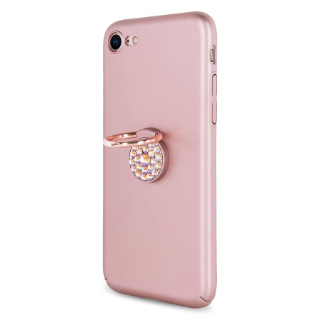 LoveCases Diamond Ring Case For IPhone 7/8- Rose Gold