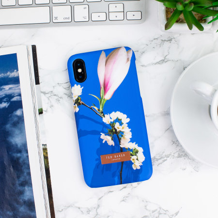 ted baker zoeni iphone x soft feel shell case - harmony mineral