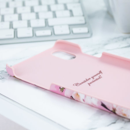 ted baker zoeni iphone x soft feel shell case - fairy tale pink