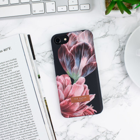 ted baker chillie iphone 8 soft feel shell case - tranquillity black