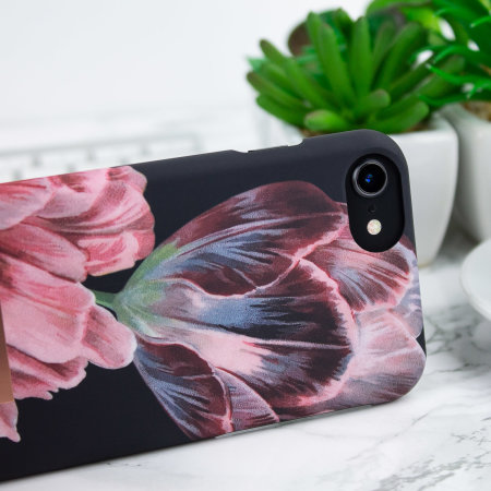 Ted Baker Chillie iPhone 7 Soft Feel Shell Case - Tranquillity Black