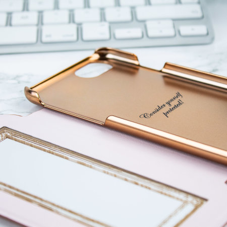 ted baker glitsie iphone 6 mirror folio case - rose gold
