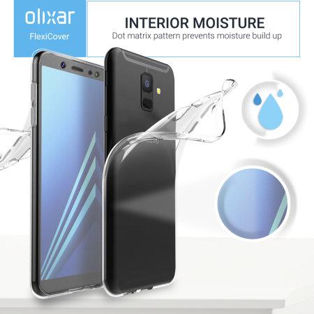 Olixar FlexiCover Full Body Samsung Galaxy A6 2018 Gel Case - Clear