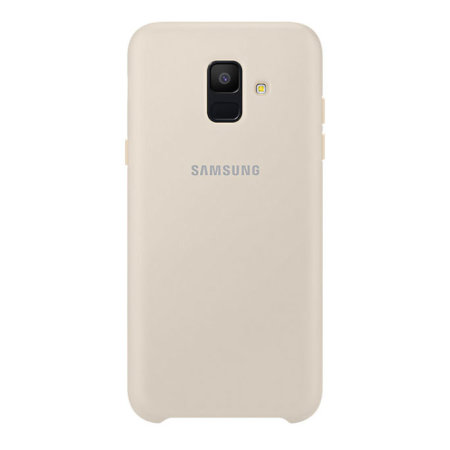 Official Samsung Galaxy A6 2018 Silicone Cover Case - Gold