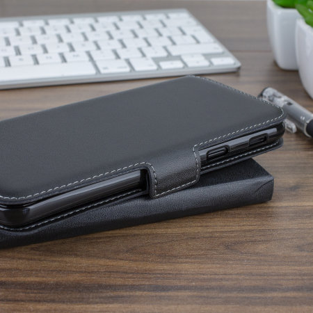 ff69a2ef3fa8 Samsung Galaxy A6 2018 Genuine Leather Wallet Case - Olixar - Black