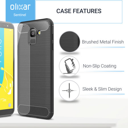 Olixar Sentinel Samsung Galaxy J6 2018 Case And Glass Screen Protector