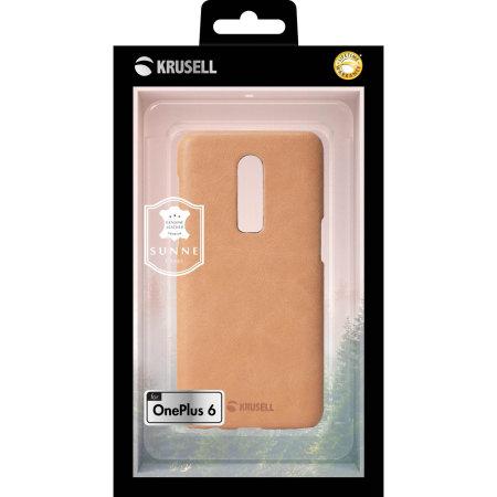 new concept b676e de9aa Krusell Sunne OnePlus 6 Leather Case - Nude