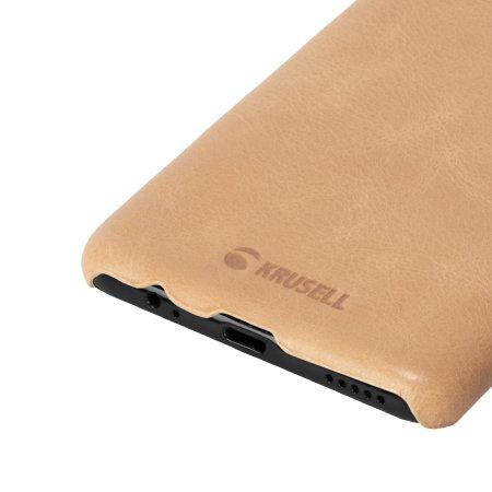 Krusell Sunne OnePlus 6 Slim Premium Leather Cover Case - Nude