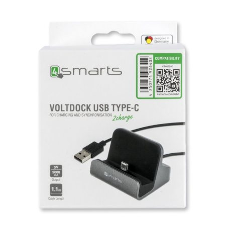 4smarts VoltDock Galaxy S9 Plus USB-C Desktop Charge & Sync Dock