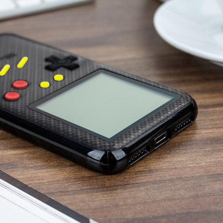 Funda iPhone X SuperSpot Retro Game - Negra Carbono