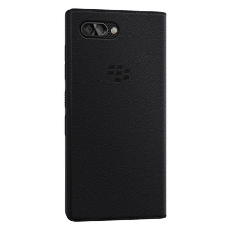 wholesale dealer feb76 89663 Official BlackBerry KEY2 Genuine Leather Flip Wallet Case - Black