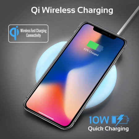 Promate Cloud Qi Fast 10W Colour Changing Wireless Charging Pad