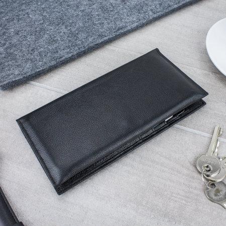 Funda Motorola Moto G6 Olixar Primo Cuero Tipo Cartera - Negra