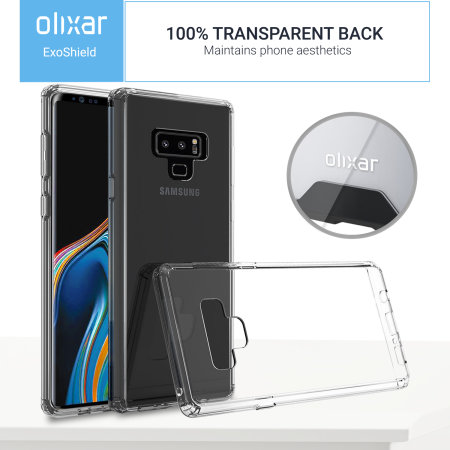 Samsung Note 9 Tough Case Olixar ExoShield - Clear