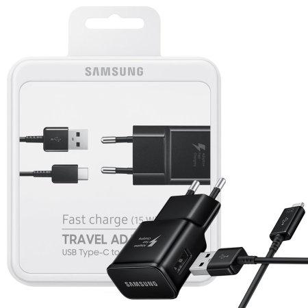 Chargeur secteur officiel Samsung Galaxy S8 Plus & câble USB