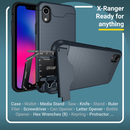olixar x-ranger iphone xr tough case - marine blue