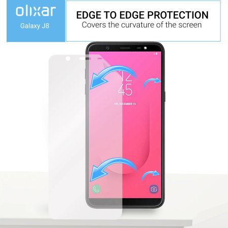 Olixar Samsung Galaxy J8 2018 Screen Protector 2-in-1 Pack