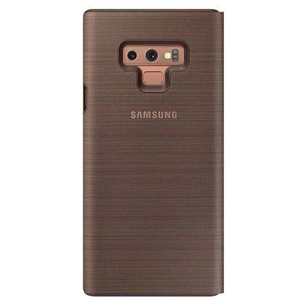 reputable site 593f4 9c27a Official Samsung Galaxy Note 9 LED View Cover Case - Brown