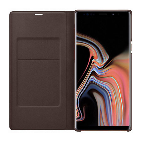 reputable site 761e7 b6e5b Official Samsung Galaxy Note 9 LED View Cover Case - Brown