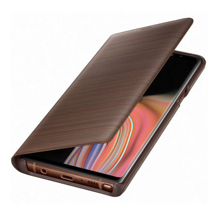 reputable site bc93c 437b5 Official Samsung Galaxy Note 9 LED View Cover Case - Brown
