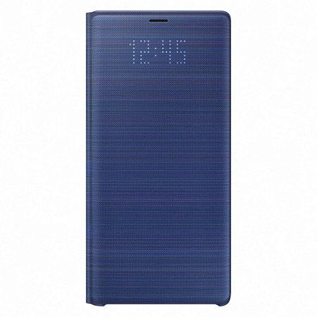 watch e27b7 b5f3b Official Samsung Galaxy Note 9 LED View Cover Case - Blue
