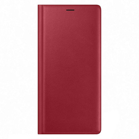 Official Samsung Galaxy Note 9 Leather Wallet Cover Case - Red