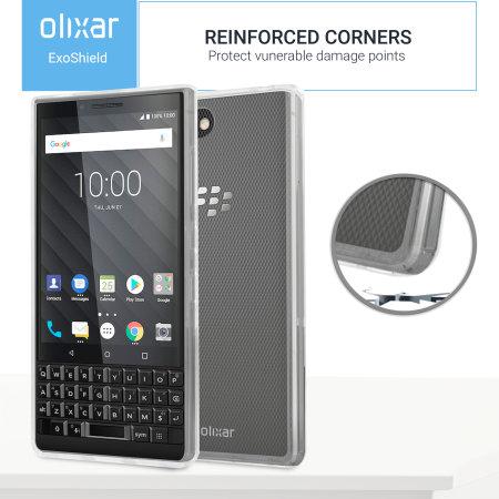 Olixar ExoShield Tough Snap-on Blackberry Key2 Case - Crystal Clear