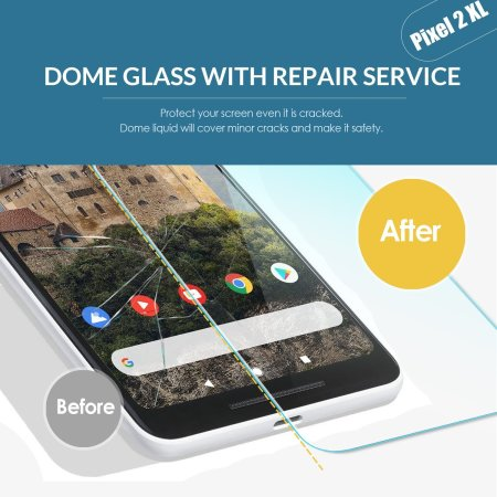 Whitestone Dome Glass Google Pixel 2XL Screen Protector - 2 Pack