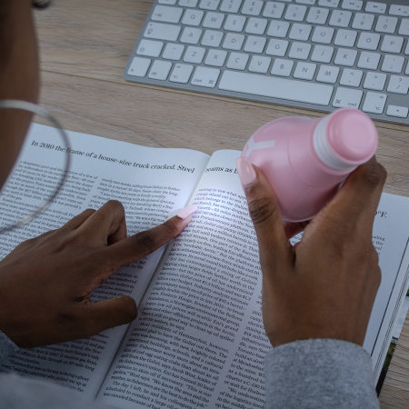 Platina Handheld Mini Fan - Millenial Pink