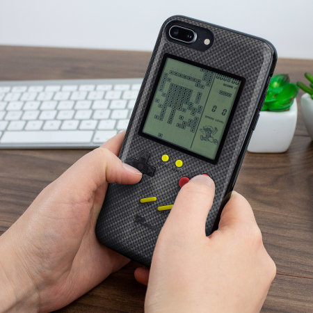 SuperSpot iPhone 8 Plus Retro Game Case - Carbon Black