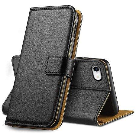 Olixar iPhone 8 Genuine Leather Wallet Case - Black
