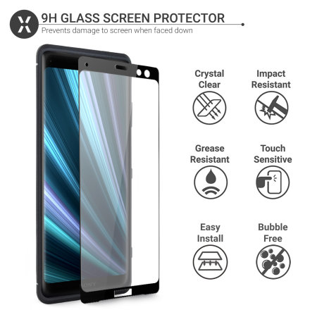 Olixar Sentinel Sony Xperia XZ3 Case and Glass Screen Protector