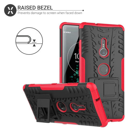 Olixar ArmourDillo Sony Xperia XZ3 Case - Rood
